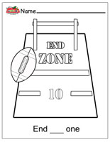 End Zone Coloring Page
