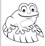 Toad Coloring Page