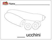 Zucchini Coloring Page