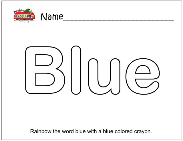 the color blue coloring pages - photo#24
