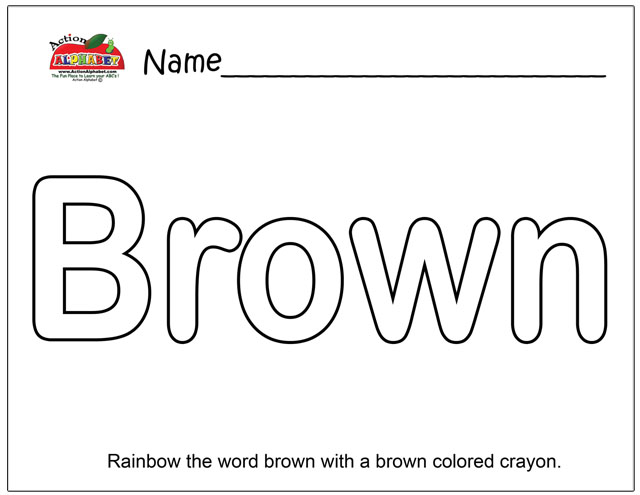 Brown Coloring Pages Preschool. Coloring Pages  Preschool Lesson Plans