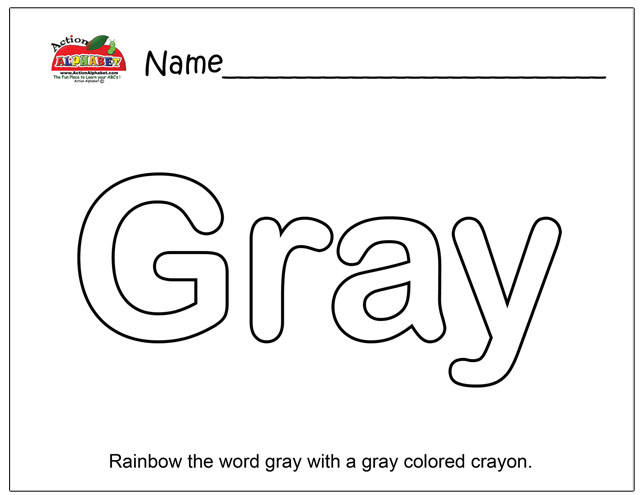 gray letters