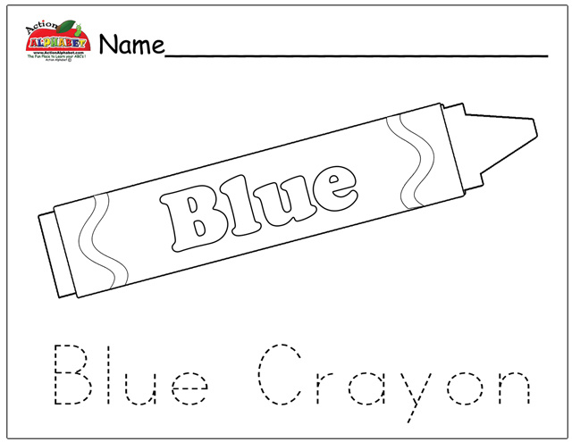 Coloring pages preschool lesson plans for Blue coloring page
