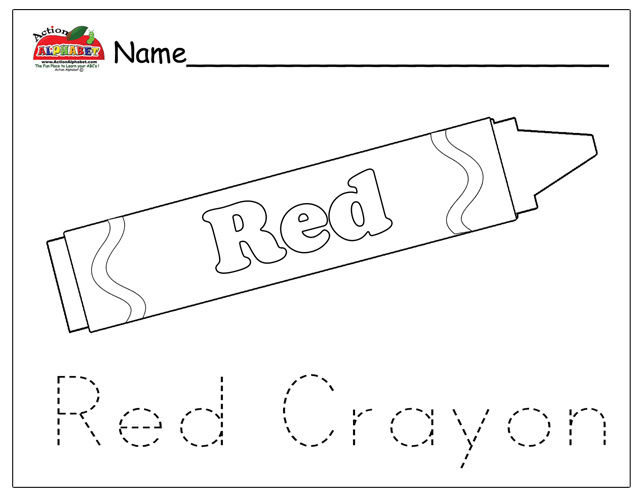 Green Crayon Coloring Page Pictures To Pin On Pinterest
