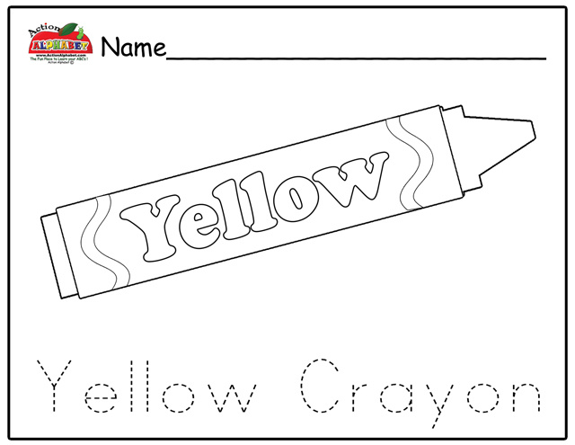 Free Coloring Pages Of Yellow Objects Yellow Coloring Pages