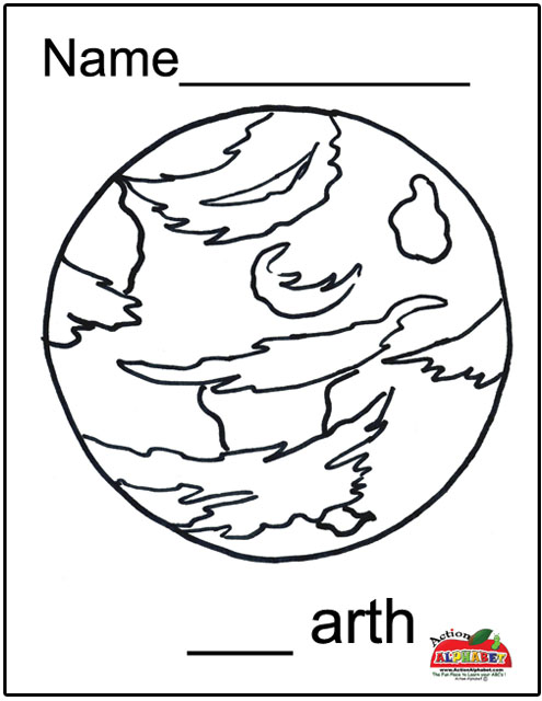earth coloring pages for preschoolers - photo#26