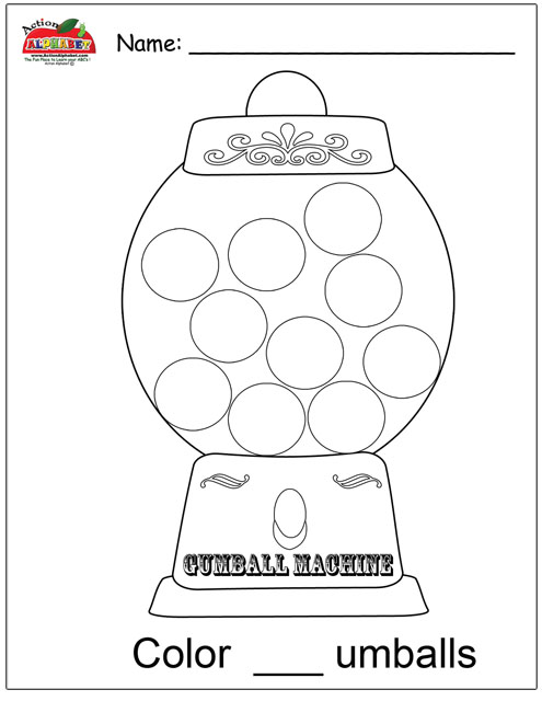 Letter g activities preschool lesson plans gumball machine coloring page spiritdancerdesigns Gallery