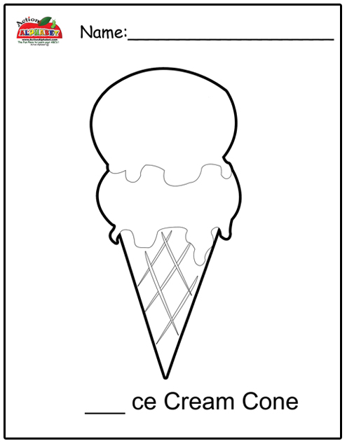 free snow cone coloring pages - photo#11