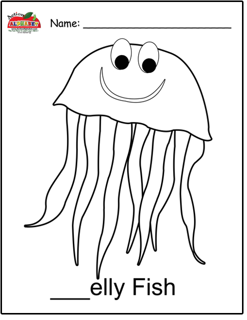 Jellyontheplate free colouring pages for Jelly fish coloring page