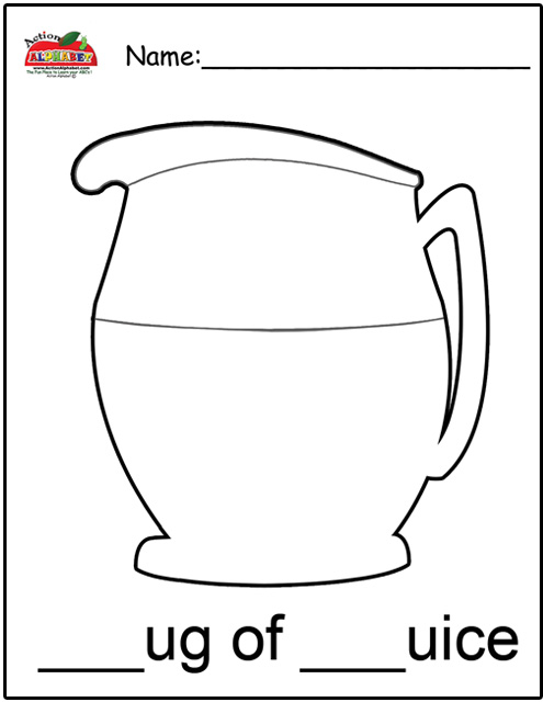 j for jug coloring pages - photo #14
