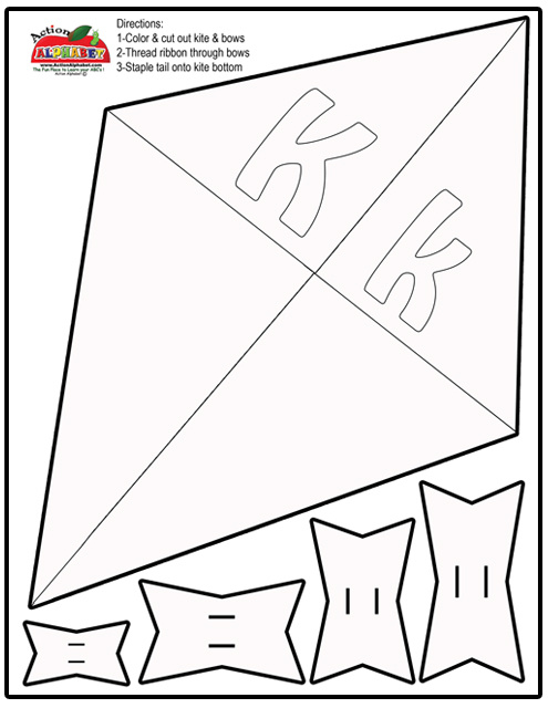 Kite print out letter k craft template copy free printable letter k letter k activities for preschool kite print out spiritdancerdesigns Image collections