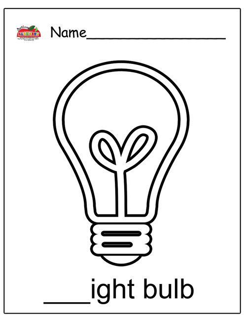 Lightbulb Coloring Page Search Results Calendar 2015 Light Coloring Page