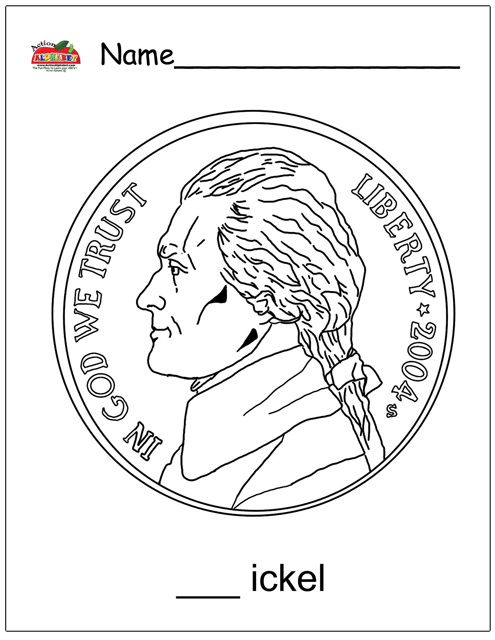 penny nickle coloring pages - photo#13