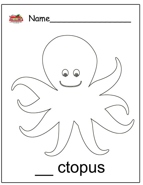 O Octopus Coloring Page Letter O Activities | ...