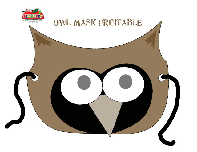 Owl Mask Coloring Pages