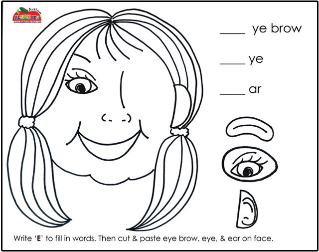 Ear Eye On Face as well Letter Tracing Printouts F F D F E C Ee Dd further Df B A A E Bfb Phonics Phase Jolly Phonics furthermore Alphabet Letter Puzzle Activity Letter E Printable Color additionally Phonics Ending Sounds Ell Worksheet. on letter ee worksheet