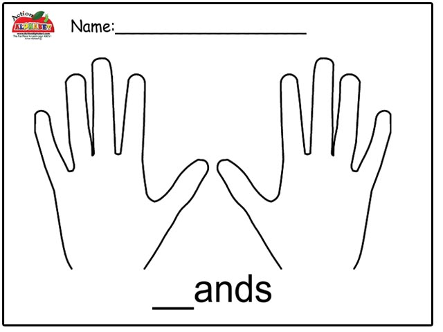 hands together coloring page