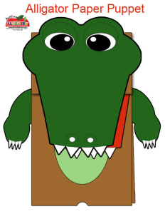 Alligator-Puppet-Craft