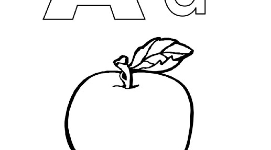 letter a coloring pages - A Colouring Pages