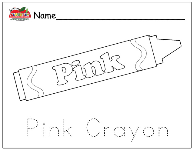 Pink crayon coloring page coloring pages for Color pink coloring pages